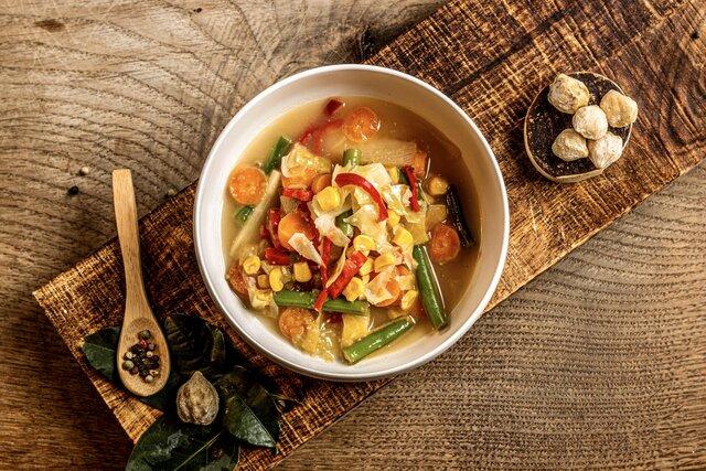 Sajoer lodeh (Indonesische groentesoep)