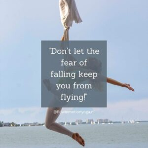 dont let the fear of falling keep you from flying aerial yoga doek kopen